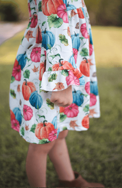 Autumn Days Dress - Orange Poppy Boutique