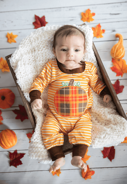 Harvest Fields Romper - Orange Poppy Boutique