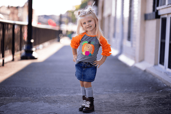 Sequin Pumpkin Tee