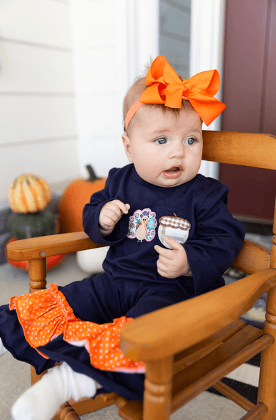 Thanksgiving Day Ruffle Romper