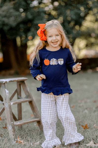 Thanksgiving Day Ruffle Pant Set