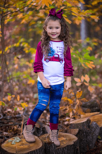 Most Wonderful Time Ruffle Raglan