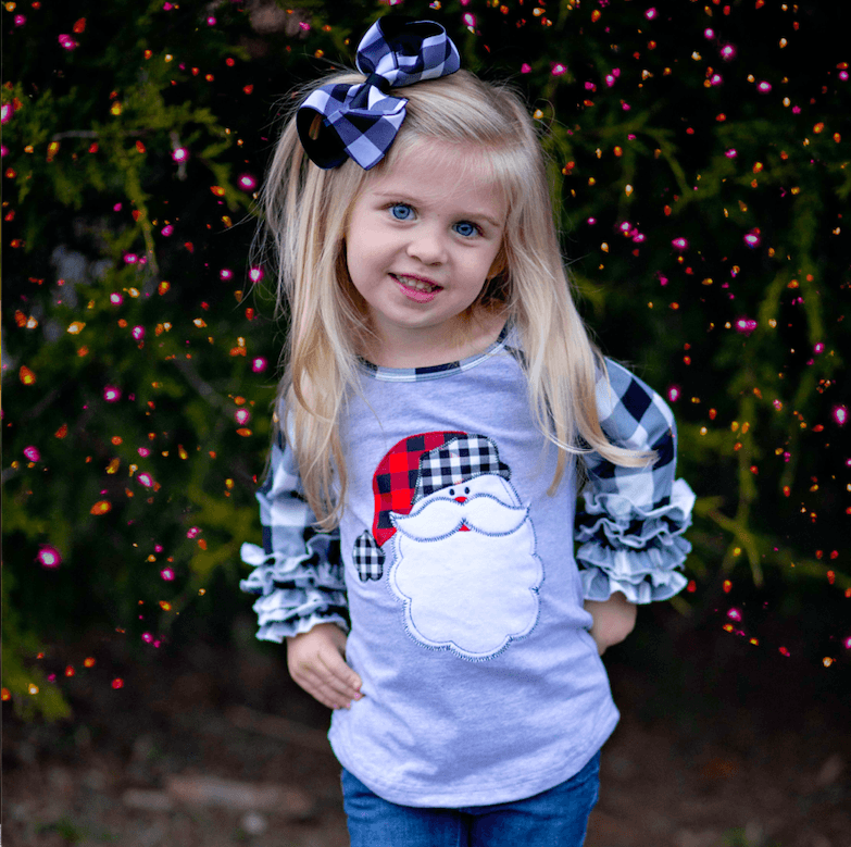Must Be Santa Ruffle Raglan