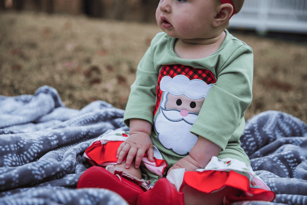 Very Merry Christmas Ruffle Romper - Orange Poppy Boutique