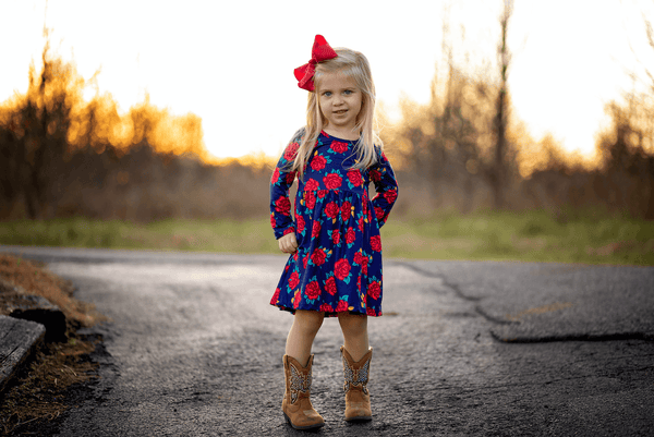 Juliette Floral Dress - Orange Poppy Boutique