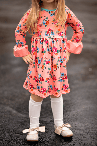 Bella Floral Dress - Orange Poppy Boutique