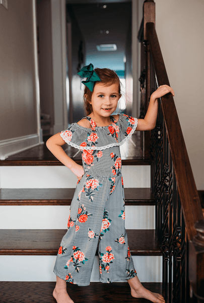 Florence Floral Jumpsuit - Orange Poppy Boutique