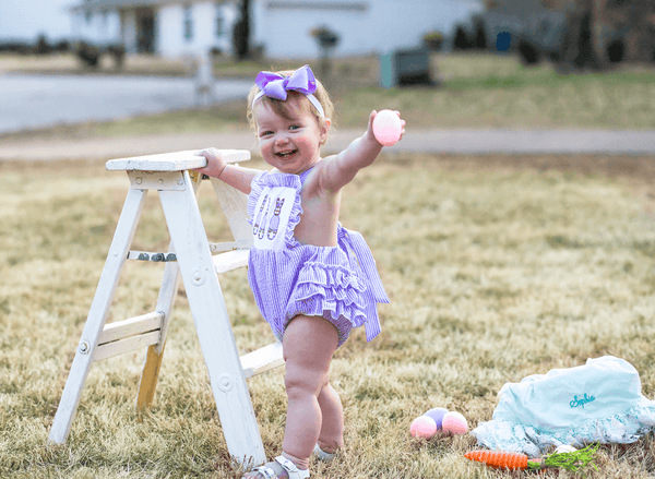 Easter Morning Bubble Romper - Orange Poppy Boutique