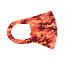 Load image into Gallery viewer, Orange & Red Camo - Child Mask