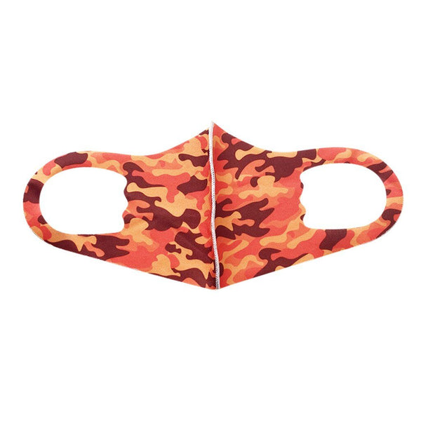 Orange & Red Camo - Child Mask