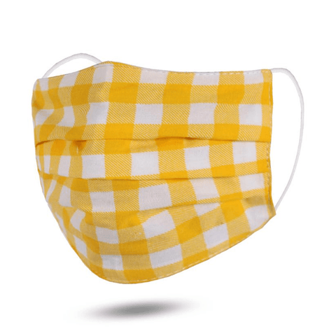 Yellow Gingham - Child Mask