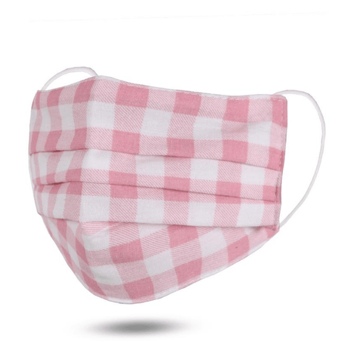 Pink Gingham - Child Mask