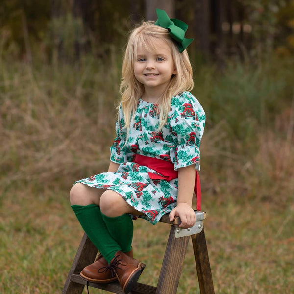 girls vintage inspired christmas dress | Orange Poppy Boutique