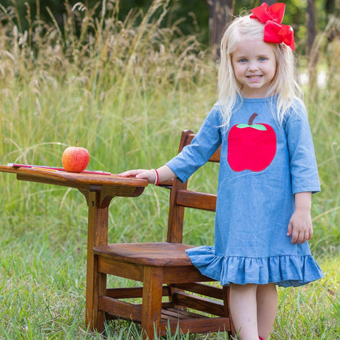 Perfect Apple Dress - Orange Poppy Boutique