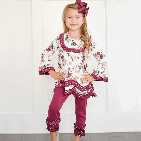 A Rose at Dawn Pant Set