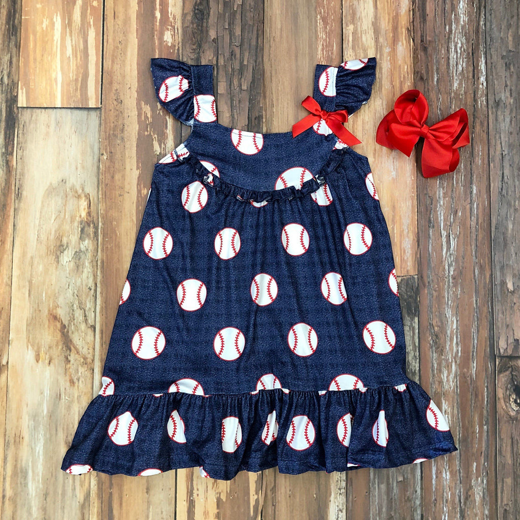 Batter Up Dress - Orange Poppy Boutique
