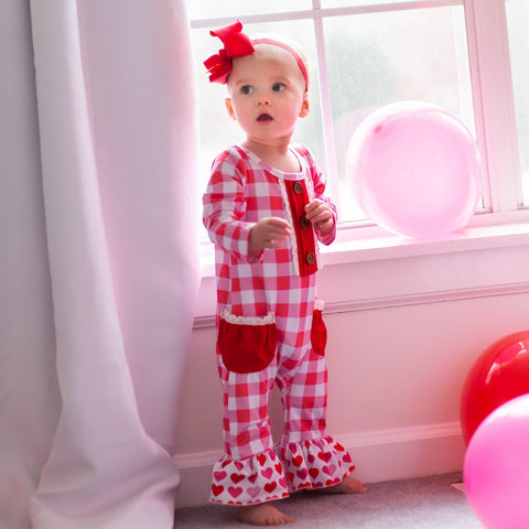 baby girl valentine's day romper outfit knoxville tn