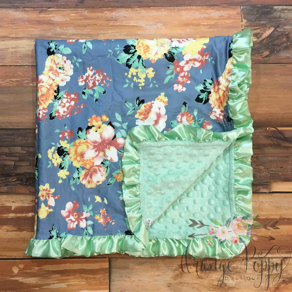 Juliette Baby Blanket - Orange Poppy Boutique