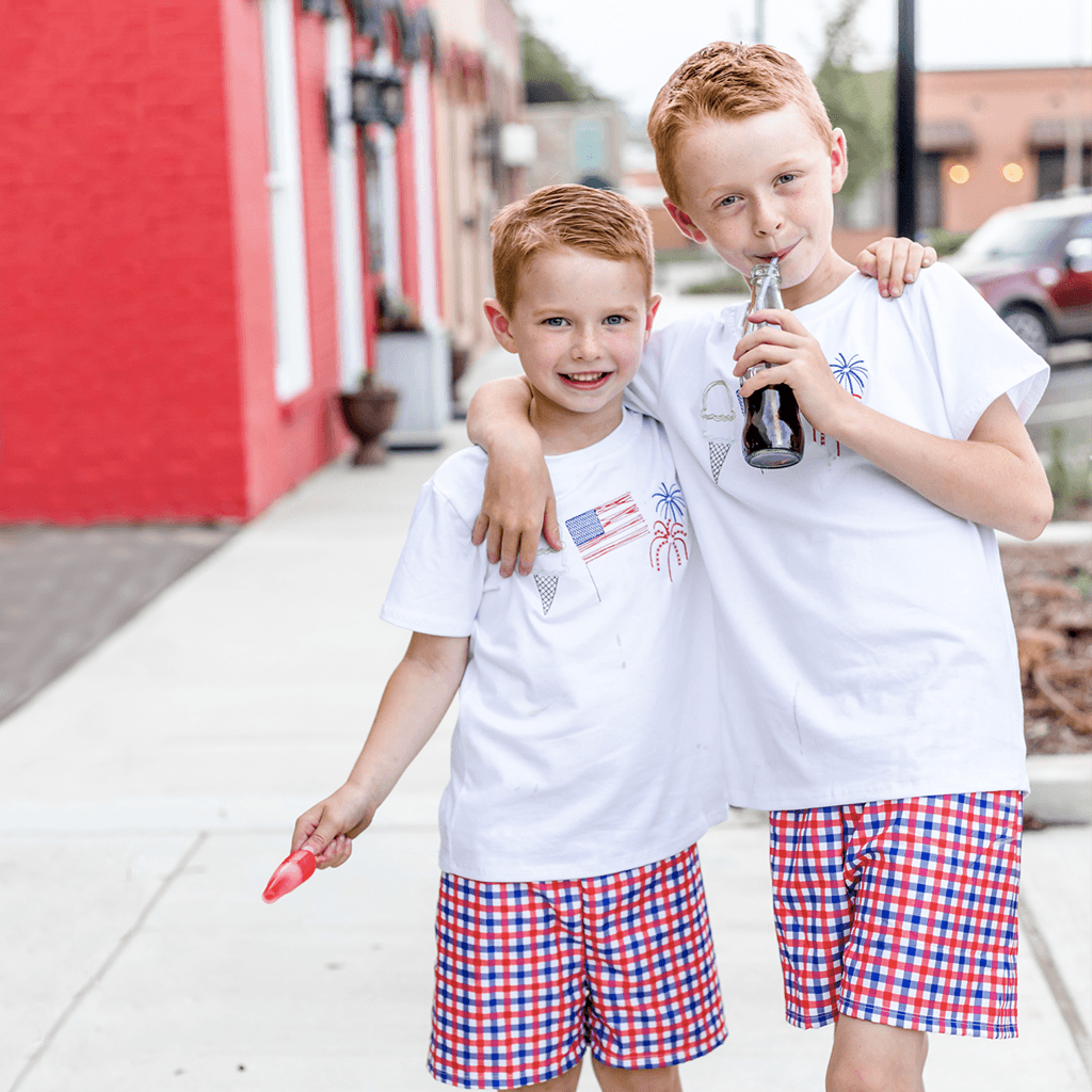 boys 4th of July Outfit, sibling set