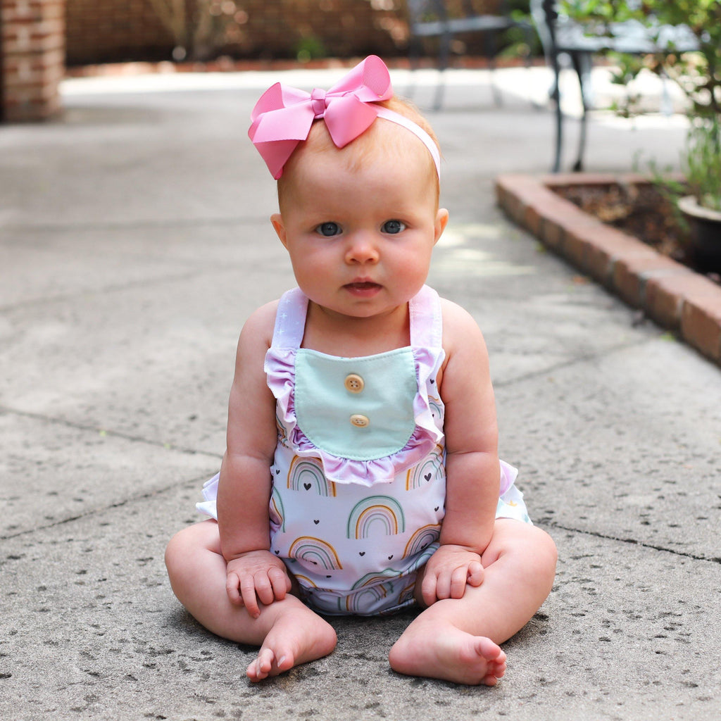 Happy Days Bubble Romper - Orange Poppy Boutique