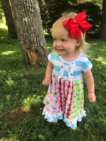 Adventure Awaits Ruffle Dress - Orange Poppy Boutique