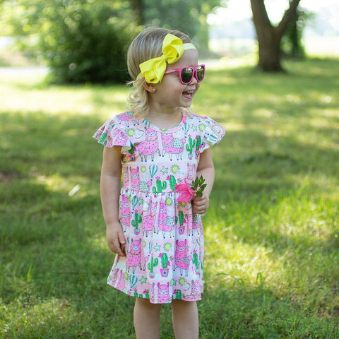 No Prob Llama Dress - Orange Poppy Boutique