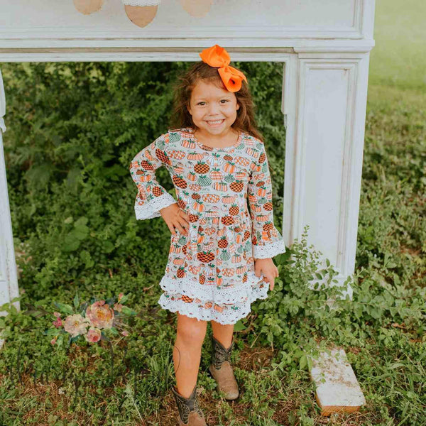 Pumpkin Patch Dress - Orange Poppy Boutique