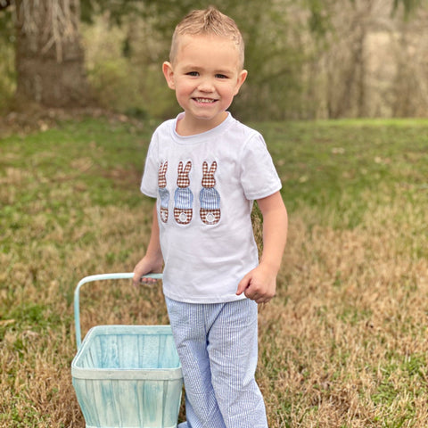 boys seersucker easter pant set outfit