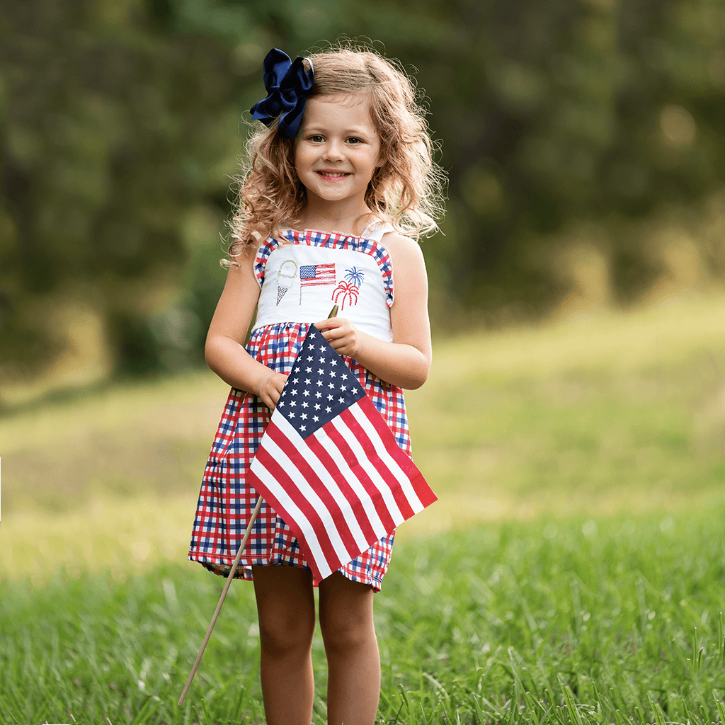 girls boutique 4th of July dress