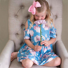 Load image into Gallery viewer, Flourishing Blooms Dress - Orange Poppy Boutique