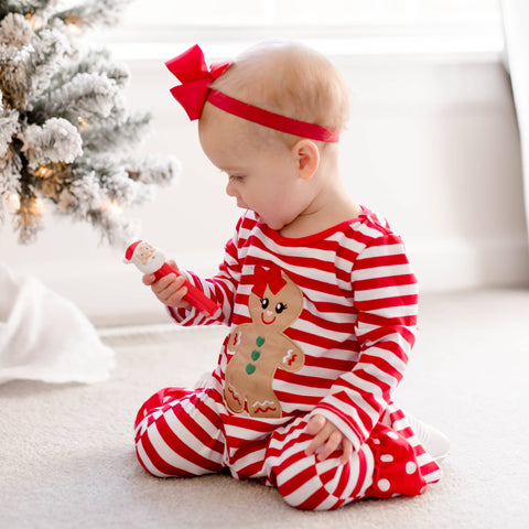 Gingerbread Kisses & Christmas Wishes Ruffle Romper