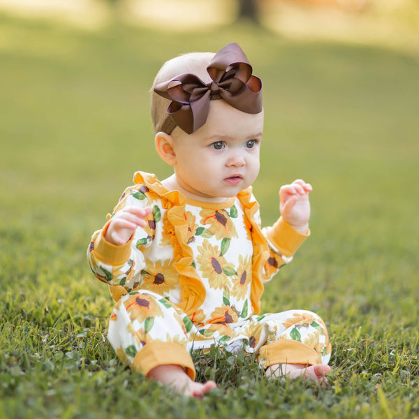 Golden Blooms Romper