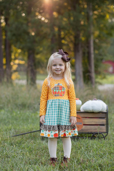 Harvest Fields Dress - Orange Poppy Boutique