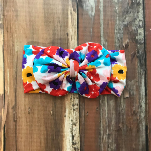 Allie Messy Bow Headband - Orange Poppy Boutique
