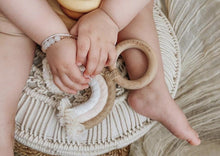 Load image into Gallery viewer, Rainbow Macrame Teether- Tan + Blush