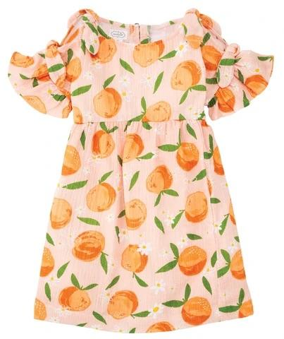 MudPie Freshly Squeezed Orange Dress