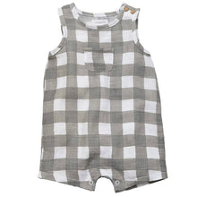 Load image into Gallery viewer, Mud Pie Gingham Muslin Romper