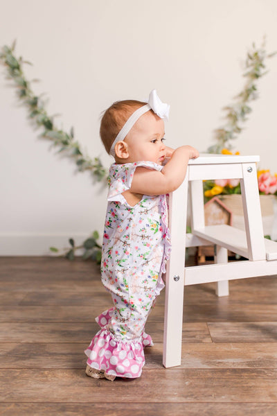 Velveteen Rabbit Romper - Orange Poppy Boutique
