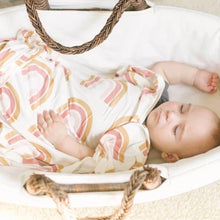 Load image into Gallery viewer, Dolly Lana Knit Swaddle Blanket - Boho Rainbow