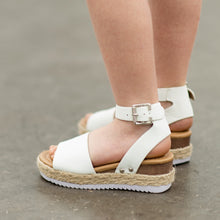 Load image into Gallery viewer, Girls White Platform Sandals