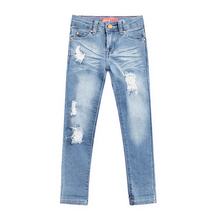 Load image into Gallery viewer, Distressed Stretch Jeans - Light Wash
