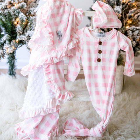 Little Lullaby Gown and Hat - Pink
