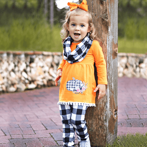 Lil' Pumpkin 3-Piece Set - Orange Poppy Boutique