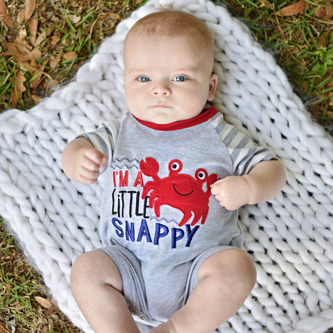 baby boy crap beach romper