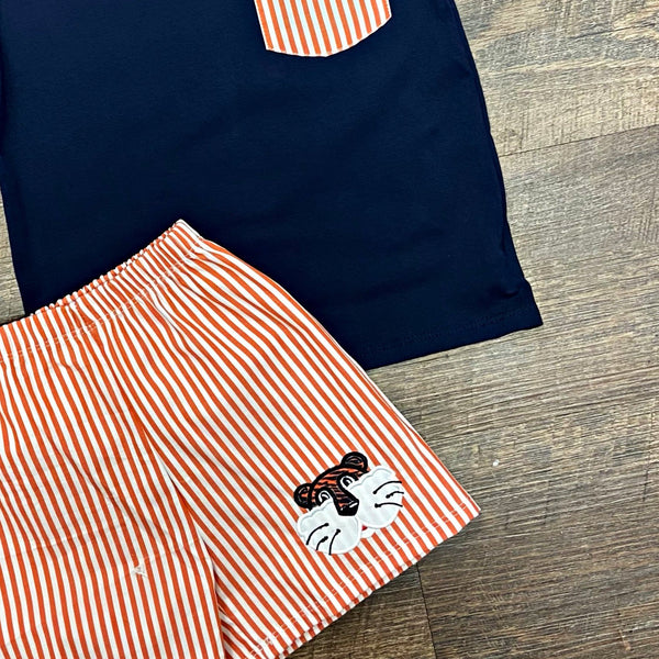 Team Spirit Short Set - Navy & Orange Tiger