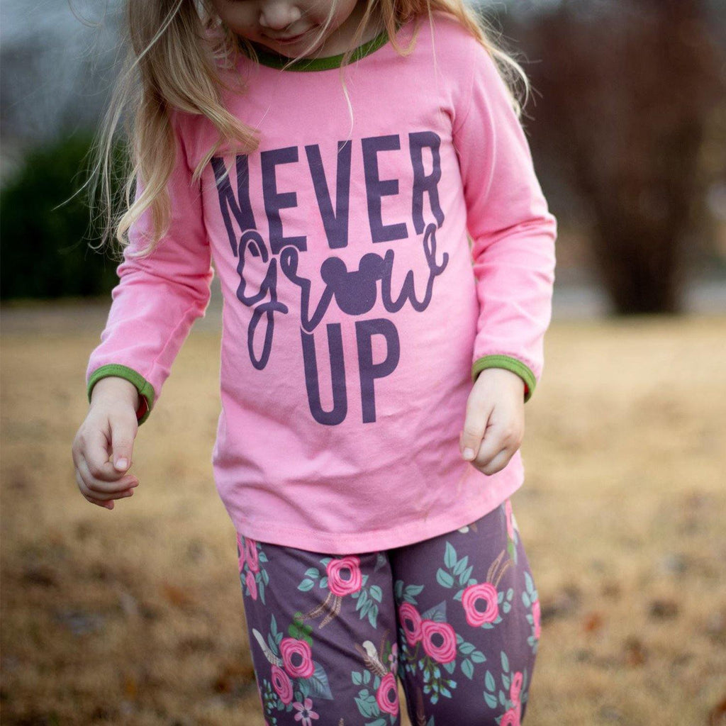 Never Grow Up Pant Set - Orange Poppy Boutique