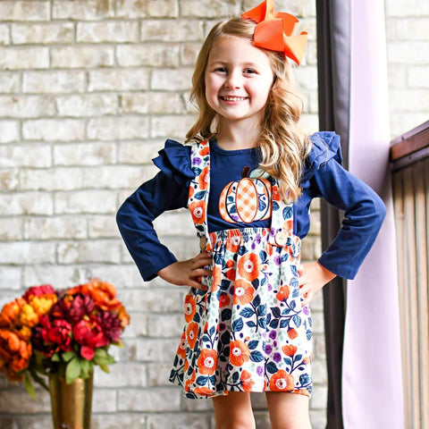 Midnight Pumpkin Jumper Set - Orange Poppy Boutique