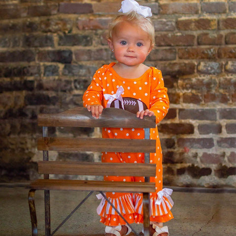Tailgate In Tennessee Romper - Orange Poppy Boutique