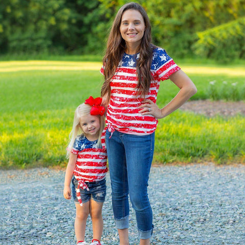 Patriotic Party Women's Tee - Orange Poppy Boutique