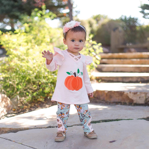 Pumpkin Pie Pant Set - Orange Poppy Boutique